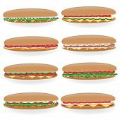 set of sandwich