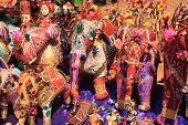 Fabric Elephants In A Goan Market