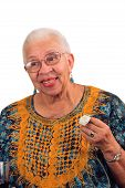 Elderly Woman With Life Alert