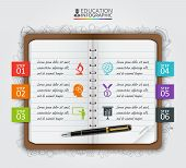Vector note education infographic. poster
