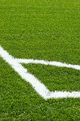 stock photo of football pitch  - corner on football - JPG