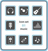 Vector Icon Set 01: Music