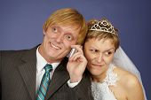 Groom Calls On A Cell Phone, Bride Overhears