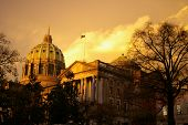 State Capitol After A Storm