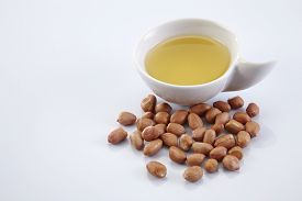 foto of ground nut  - bowl of oil and ground nut - JPG