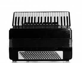 pic of accordion  - Accordion isolate on white - JPG