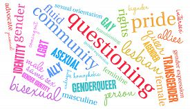 picture of intersex  - Questioning word cloud on a white background - JPG