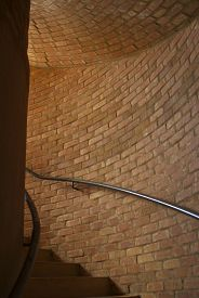 foto of underpass  - This is a brick underpass inside of a round tower - JPG