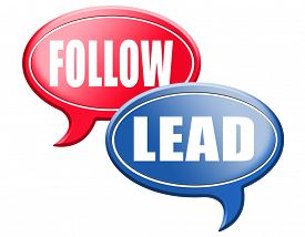 picture of follow-up  - leadership follow or lead following or catch up the natural leader - JPG