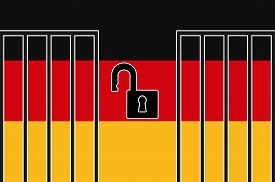 picture of safe haven  - Concept sign for the German asylum law to accept refugees - JPG
