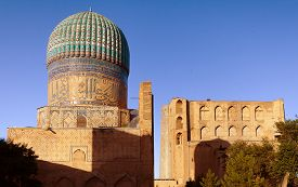 picture of samarqand  - Evening view of Bibi - JPG