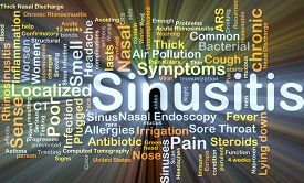 stock photo of sinuses  - Background concept wordcloud illustration of sinusitis glowing light - JPG