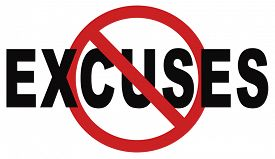 stock photo of take responsibility  - no excuses tell the truth - JPG