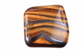 stock photo of tiger eye  - tiger eye mineral isolated on the white background - JPG