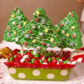 foto of crispy rice  - Rice crispy bars decorated for a Christmas - JPG