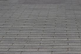 stock photo of shingles  - An image of a rooftop and its shingles.
