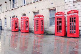 stock photo of phone-booth  - London UK  - JPG
