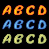 Letters Abcd.