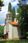 Small Church, in Podgorica, Montenegro poster