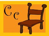 Alphabet for children with - c -