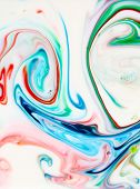 Abstract Backgrounds and Textures. Food Coloring in milk. Food coloring in whole milk creating brigh poster