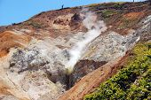 Sulfur Hot Spring In Japan