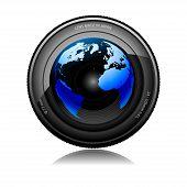 lente de la cámara
