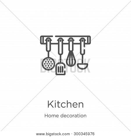 poster of Kitchen Icon Isolated On White Background From Home Decoration Collection. Kitchen Icon Trendy And M