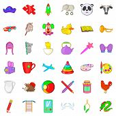 Childcare Icons Set. Cartoon Style Of 36 Childcare Icons For Web Isolated On White Background poster
