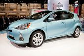 CHICAGO - FEB 12: The 2013 Toyota Prius C on display at the 2012 Chicago Auto Show. February 12, 201