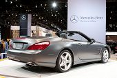 CHICAGO - FEB 12: The 2013 Mercedes SL AMG on display at the 2012 Chicago Auto Show. February 12, 20