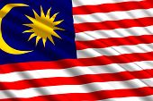 Waving Flag Of Malaysia. Vector Illustration . Template For Your Design poster