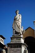 stock photo of alighieri  - The statue of Dante Alighieri - JPG