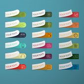 Set of multicolored labels