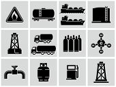 pic of shale  - Natural gas icons set - JPG