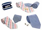 Man Cuff Links And Tie Collection