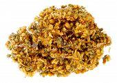Medicinal Herbs, John's Wort On The White Background, (hypericum Elodes)