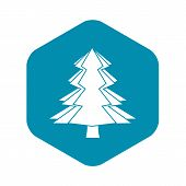 Fir Tree Icon. Simple Illustration Of Fir Tree Vector Icon For Web poster