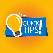Modern Quick Tips Composition With Flat Design- Vector Illustrator.ai poster