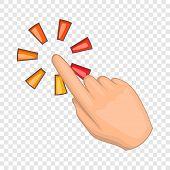 Hand Cursor Icon. Cartoon Illustration Of Cursor Vector Icon For Web Design poster