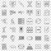 College Icons Set. Outline Style Of 36 College Vector Icons For Web For Any Design poster
