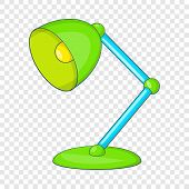 Green Table Lamp Icon. Cartoon Illustration Of Lamp Vector Icon For Web Design poster