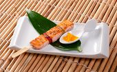 Japanese Skewered Salmon