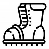 Hiking Boot Icon. Outline Hiking Boot Icon For Web Design Isolated On White Background poster