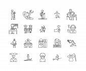 Excellence Line Icons, Signs, Vector Set, Outline Illustration Concept poster