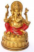 Dios Ganesh sobre fondo blanco