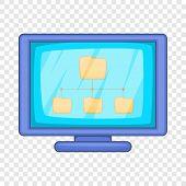 Desktop Folders Icon. Cartoon Illustration Of Desktop Folders Vector Icon For Web Design poster