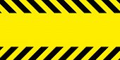 Yellow And Black Barricade Tape. Safety Stripes. Warning Stripes. Seamless Stripe. Frame For The Tex poster