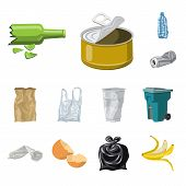 Vector Illustration Of Environment  And Waste Symbol. Collection Of Environment  And Ecology Vector  poster