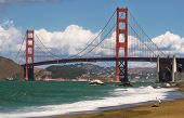 image of golden gate bridge  - Scenic view on Golden Gate bridge in San Francisco USA - JPG